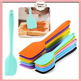 Phới trộn bột spatula silicon chịu nhiệt, đúc liền dùng để đánh bột, vét, vét kem 21cm-28cm