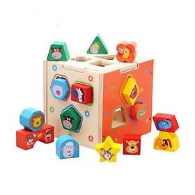 1. Hộpthả hình khối động vật-Đồ chơi gỗđáng yêu cho bé thêm say mê khám phá