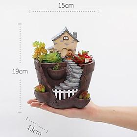 Resin Flower Pot Succulent Planter Pots For Garden Retro Farmhouse