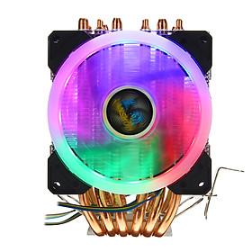 CPU Cooler 6 Heatpipe 4 Pin RGB Fan For Intel 775/1150/1151/1155/1156/1366 AMD