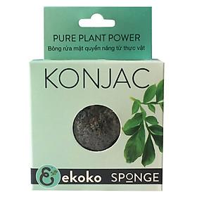 Bông rửa mặt than hoạt tính Ekoko Konjac Spone