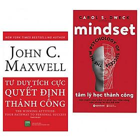Combo Sách về sức mạnh của tư duy : Tư duy tích cực quyết định  thành công + Tâm lý học thành công - Combo sách vô cùng hữu ích mà ai cũng nên đọc - Tặng kèm bookmark thiết kế