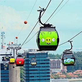 Vé Đi Cáp Treo Cable Car Faber - Sentosa Singapore