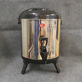 """Bình giữ nhiệt, ủ trà Inox dung tích 6 lít giá chỉ còn <strong class=""""price"""">218.000đ</strong>"""