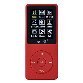 1.8-Inch Screen Mp4 Player 4Gb Capacity And Ebook Lossless Sound Quality Mp3 Plug-In Card With Red Speaker