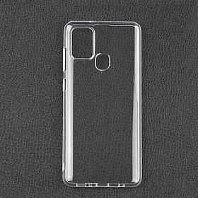 Ốp lưng cho Samsung Galaxy A21s chất liệu silicon dẻo trong suốt