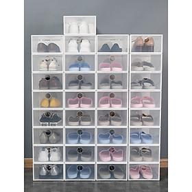 Combo 5 Hộp Đựng Giày Nhựa Cứng Trong Suốt ,Tháo Lắp Dễ Dàng