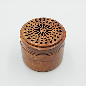 Hộp gỗ đựng và đốt trầm khoanh - Trầm hương Thiên Trang