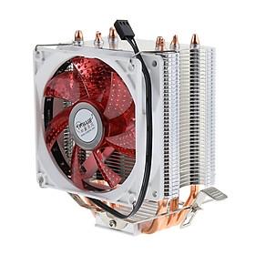 CPU Cooler 4 Heatpipe 9cm Fan for , AMD, LGA 775/1366/1150/1151/1155/1156 Red
