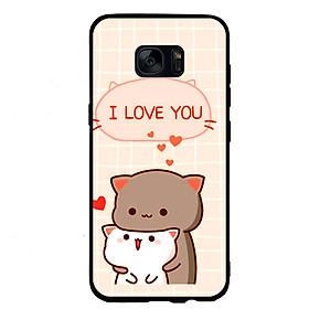 Ốp lưng viền TPU cho điện thoại Samsung Galaxy S6 - I Love U