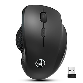 HXSJ T68 Wireless Ergonomic Mouse Mute 2.4GHz Wireless Mouse with Adjustable DPI for Laptop/Computer Internet Surfers