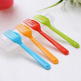 Hộp nĩa sắc màu độc đáo (4 nĩa) - Hàng nội địa Nhật