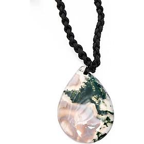 Mặt dây chuyền giọt nước băng ngọc thủy tảo mệnh hỏa, mộc - Ngọc Quý Gemstones