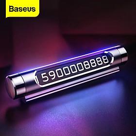 Bảng số điện thoại dùng trên xe hơi Baseus All Metal Temporary Parking Number Plate Series 2 (Dual-number Version) - Hàng chính hãng