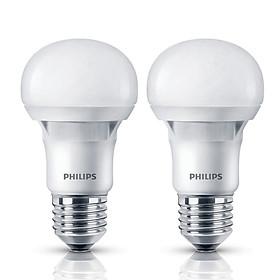 Combo 2 Bóng Đèn Philips Ecobright Ledbulb 5W 6500K E27 A60 2C-929001259907 - Ánh Sáng Trắng