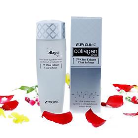 Nước Hoa Hồng Giúp Làm Trắng Da Collagen Hàn Quốc 3W Clinic 150ml ( Dạng Nước )