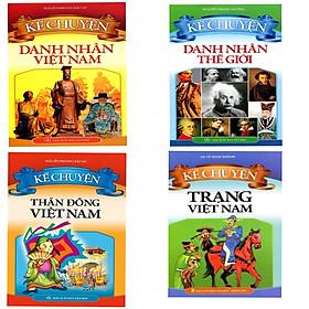 Combo 4 cuốn Kể Chuyện Danh Nhân Việt Nam,Danh Nhân Thế Giới,Thần Đồng Việt Nam,Trạng Việt Nam (tặng kèm 3 bút bi hình ngộ nghĩnh và 3 bookmark)