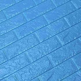 bộ 20 Xốp Dán Tường 3D Chịu lực, chống nước, chống ẩm mốc 70x77cm DT26-xanh dương