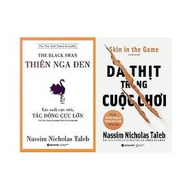 Bộ 2 Cuốn Sách Hay Nhất Của Tác Giả Nassim Nicholas Taleb (Gồm: Thiên Nga Đen + Da Thịt Trong Cuộc Chơi) Quà Tặng Sổ Tay Giá Trị (Khổ A6 Dày 200 Trang)