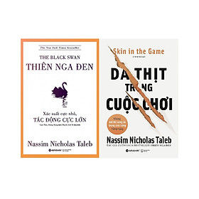 Trọn Bộ 2 Cuốn Sách Của Tác Giả Nassim Nicholas Taleb ( Thiên Nga Đen + Da Thịt Trong Cuộc Chơi ) tặng kèm bookmark Sáng Tạo