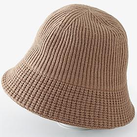 Mũ bucket len cụp (MU15) thời trang Hàn Quốc, mũ vành cụp thời trang thu đông