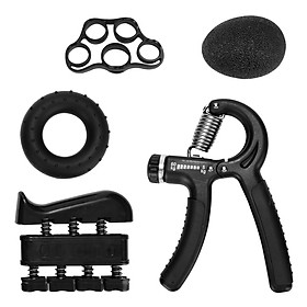 5 Pieces Hand Grip Trainer Set Finger Resistance Band Rubber Ring Grips Fingers Exerciser Ball