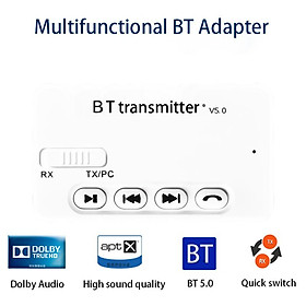3 in1 Bluetooth 5.0 Audio Receiver Transmitter Wireless Adapter Bluetooth Transmitter For TV PC Car
