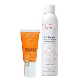 Combo Kem Chống Nắng Có Màu Avene Protection Tinted Cream 50+ (50ml) Và Xịt Khoáng Avène Thermal Spring Water (300ml)