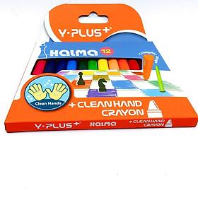 Bộ sáp hữu cơ 12 màu cho bé HALMA/ an toàn/ không dây bẩn tay
