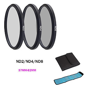 ND Filter Neutral Density ND2 ND4 ND8 Filtors 37 52 58 62 67 72 77 82mm Photography for Canon Nikon Sony Camera