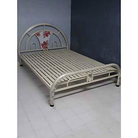 Giường sắt 1m6 x2m màu kem
