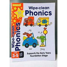 Gold Stars Wipe Clean Workbook: Phonics - Sách Học Phát âm Ngoại Ngữ cho trẻ - Sách Học Tiếng Anh ( 3 - 5 tuổi )