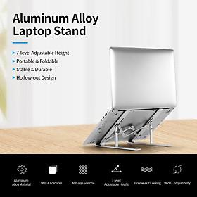 Giá Đỡ Laptop Hợp Kim Nhôm 7 Cấp Độ Điều Chỉnh Chống Trượt Gấp Gọn