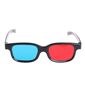 Universal 3D Glasses Black Frame Red Blue Eyeglasses Cyan Anaglyph 0.2Mm Abs Glasses For Movie Game DVD