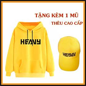 Áo Khoác Hoodie Heavy Màu Vàng [ TẶNG 1 NÓN HEAVY ] Chất Nỉ Mềm Mịn Kiểu Dáng Trẻ Trung Dành Cho Cả Nam Và Nữ Đủ Size Team Heavy
