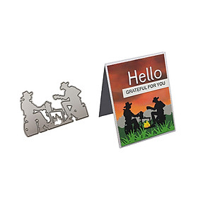 New Leisure Afternoon Cut Die Metal Stencil Template Mould for DIY Scrapbook Embossing Album Paper Card Craft