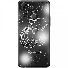Ốp lưng  dành cho OPPO F7 mẫu Cung hoàng đạo Aquarius (đen)