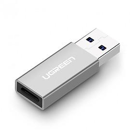 Đầu chuyển đổi USB 3.0 đực sang USB 3.1 Type C cái dùng cho PC, laptop, macbook, điện thoại UGREEN 30705 US204 - Hàng chính hãng