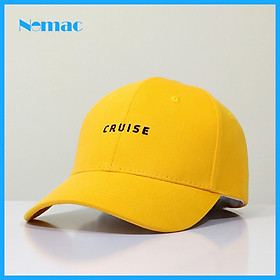 Nón kết/ mũ lưỡi trai kaki 100% cotton Unisex Nomac thêu chữ CRUISE NON0608