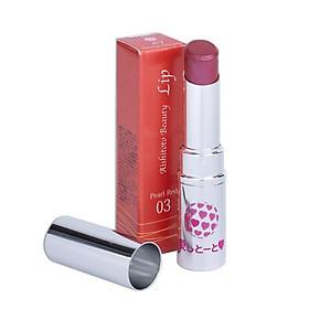 Son Dưỡng Có Màu Nhật Bản AISHITOTO Beauty Lip Pearl Red  Màu Đỏ San Hô Quý Phái 4.8g