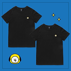 Set 2 áo thun BT21 x HUNT 2Pack Set Black Chimmy HIXH8A901T
