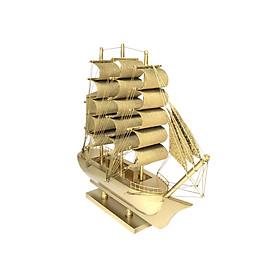 Hình đại diện sản phẩm Mô hình thuyền gỗ trang trí Le Belem - thân 25cm - vàng ánh kim