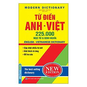 Từ Điển Anh Việt 225000 Mục Từ & Định Nghĩa (Bìa Cứng)