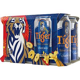 Lốc 6 Lon Tiger Thường (330ml / Lon) - Bao Bì Xuân