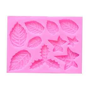 Maple Leaf Silicone Baking Mold DIY Fondant Cake Decorating Tools Gumpaste Chocolate Candy Clay Mould Specification:Pink