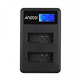 Bộ Sạc Pin USB Andoer LCD2-LPE12 Cho Pin Máy Ảnh Canon LP-E12