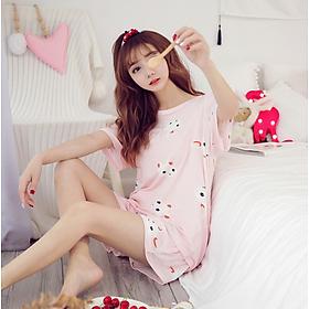 Bồ đồ nữ mặc nhà ngắn tay hình Thỏ dễ thương - AG85