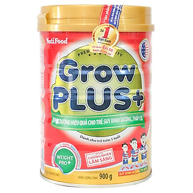 2 Hộp Sữa Bột Nutifood Grow Plus+ Đỏ (900g)