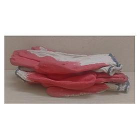 3 đôi Găng Tay Vải Lao Động, Làm Vườn, Chống Cắt, Chống Trơn Trượt, Màu Đỏ - 3 đôi Găng tay sơn đỏ !