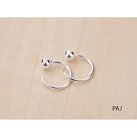 Bông tai móc tròn bạc Unisex Nam-Nữ đeo chung